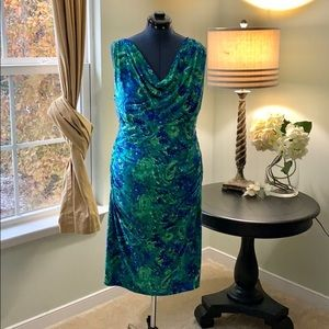 Ralph Lauren Floral Fitted Dress Size 16W